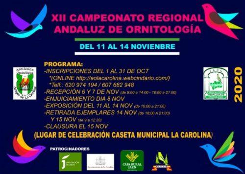 XII campeonato regional andaluz de ornitología