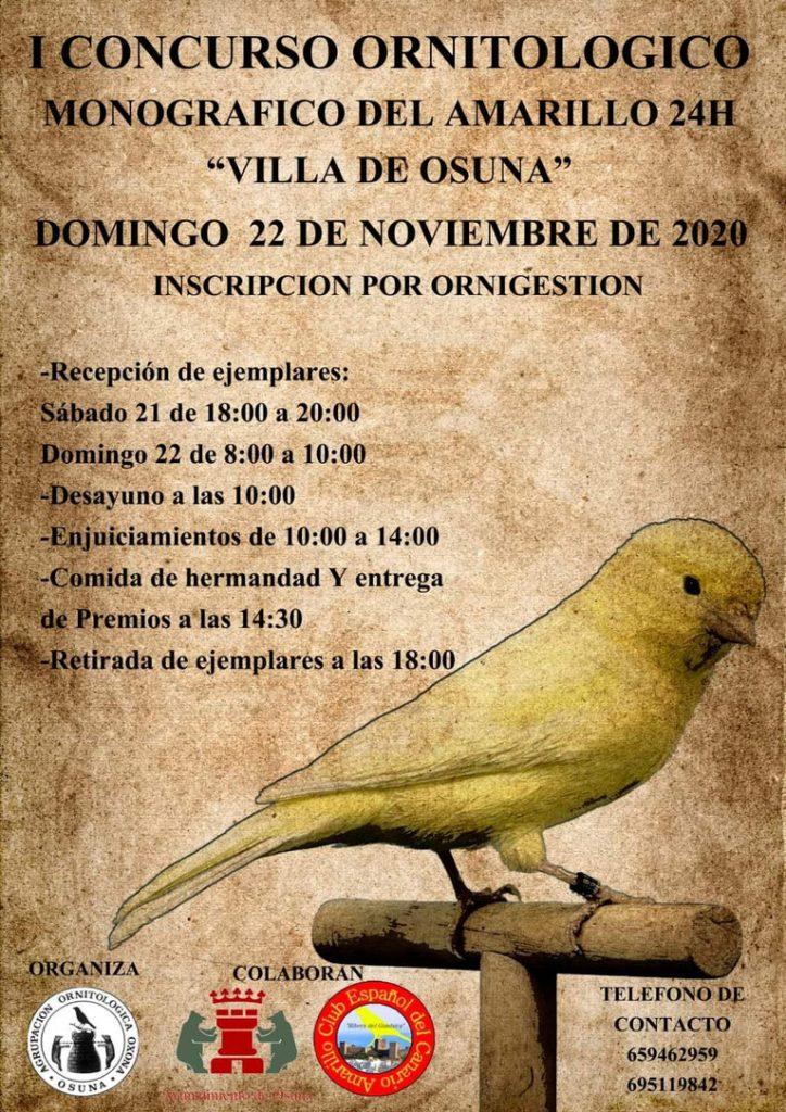 I concurso ornitologico monografico del amarillo